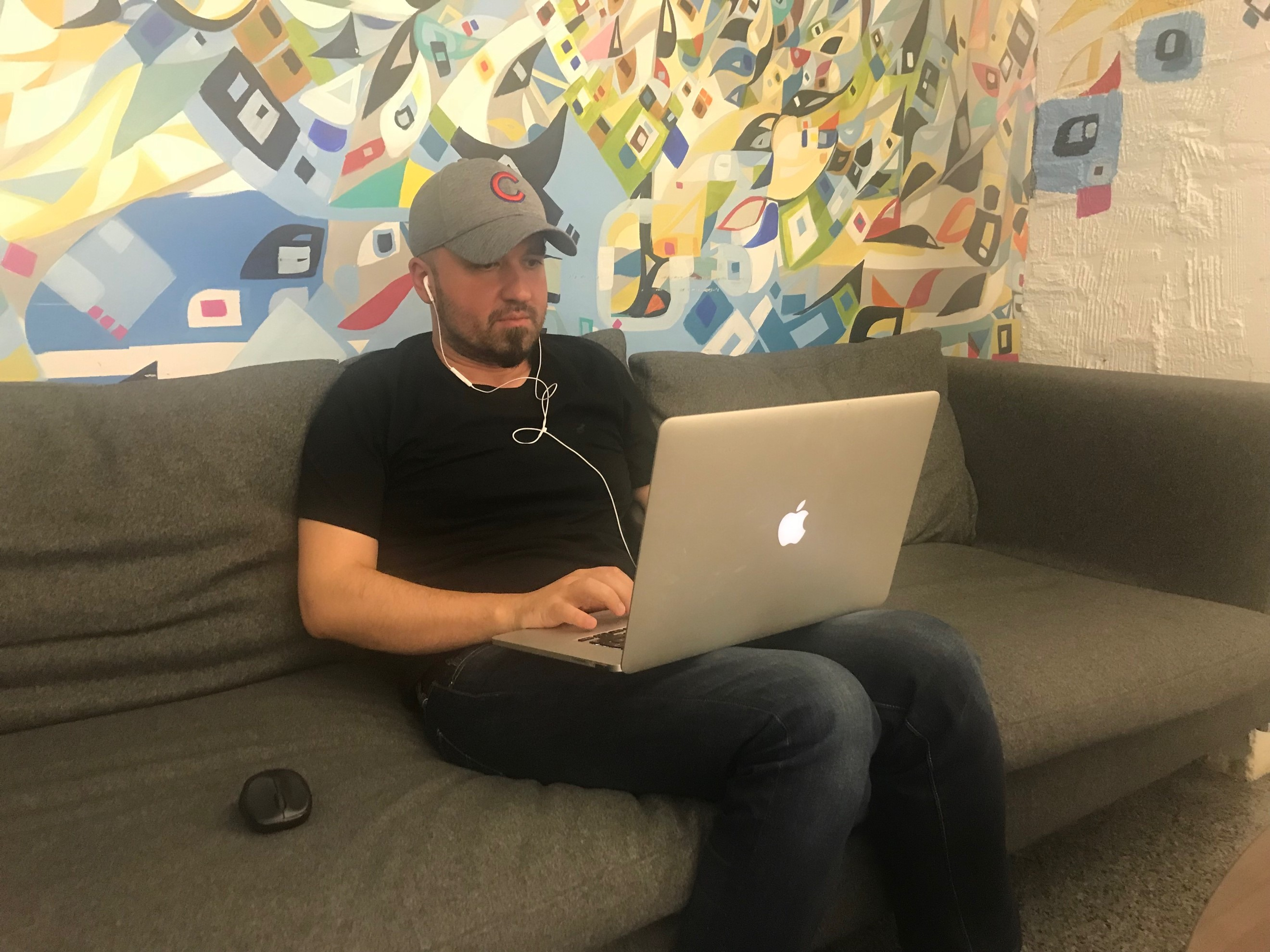 Me being very productive at 1871 Incubator shared space